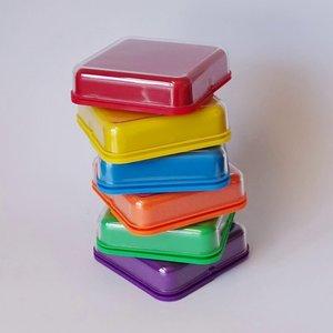 Vierkante praatknop (set van 6 stuks)