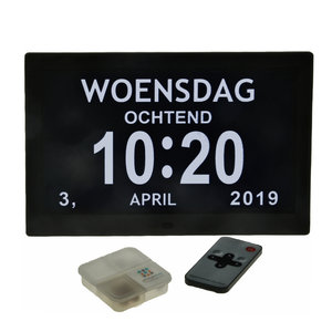 Digitale kalenderklok (10 Inch)